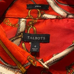 Talbots Paisley (Red) Button Down Shirt